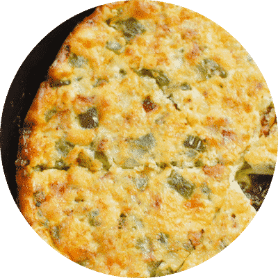 One Pan Cheesy Bacon Quiche
