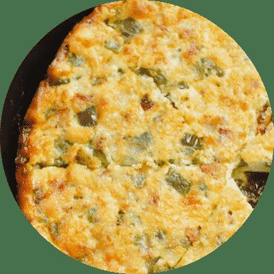 One Pan Cheesy Bacon Quiche