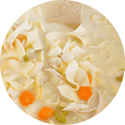 Easy Lightened-Up Creamy Chicken Noodle Soup
