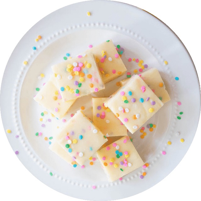 Cake Batter Funfetti Fudge