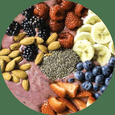 Berry Protein Smoothie Bowl.