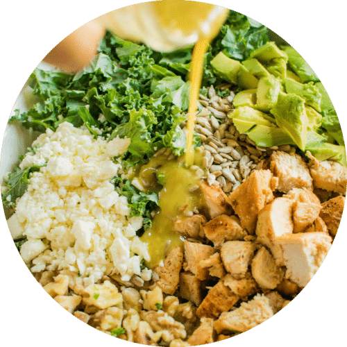 Quinoa, Kale & Chicken Salad.