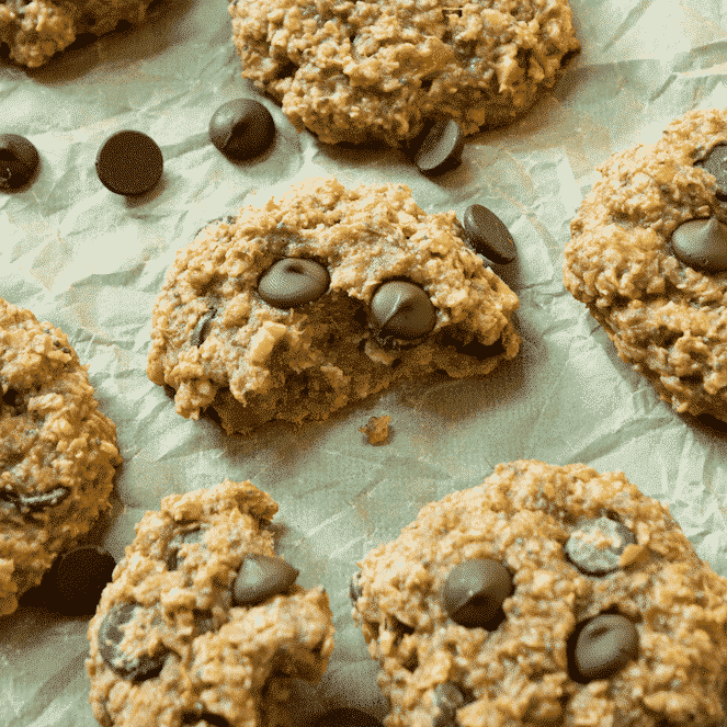 Banana Chocolate Chip Breakfast Cookies.