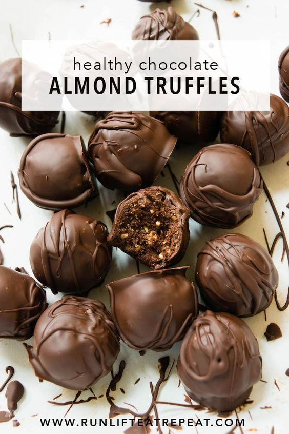These healthy truffles are perfect when that sweet tooth hits — gluten-free, no refined sugar and 100% delicious. Find the recipe at runlifteatrepeat.com.