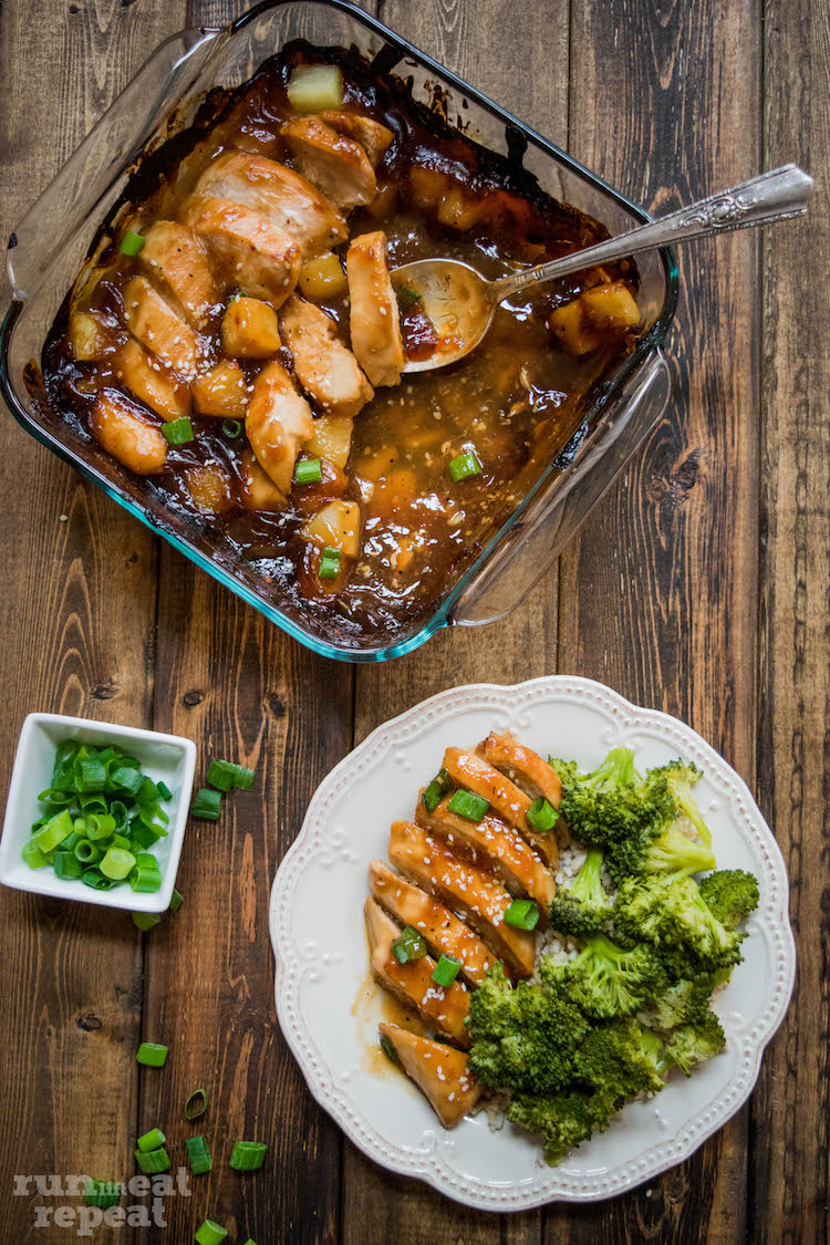 Enter the easiest, most flavorful baked chicken teriyaki. Find the recipe at runlifteatrepeat.com!