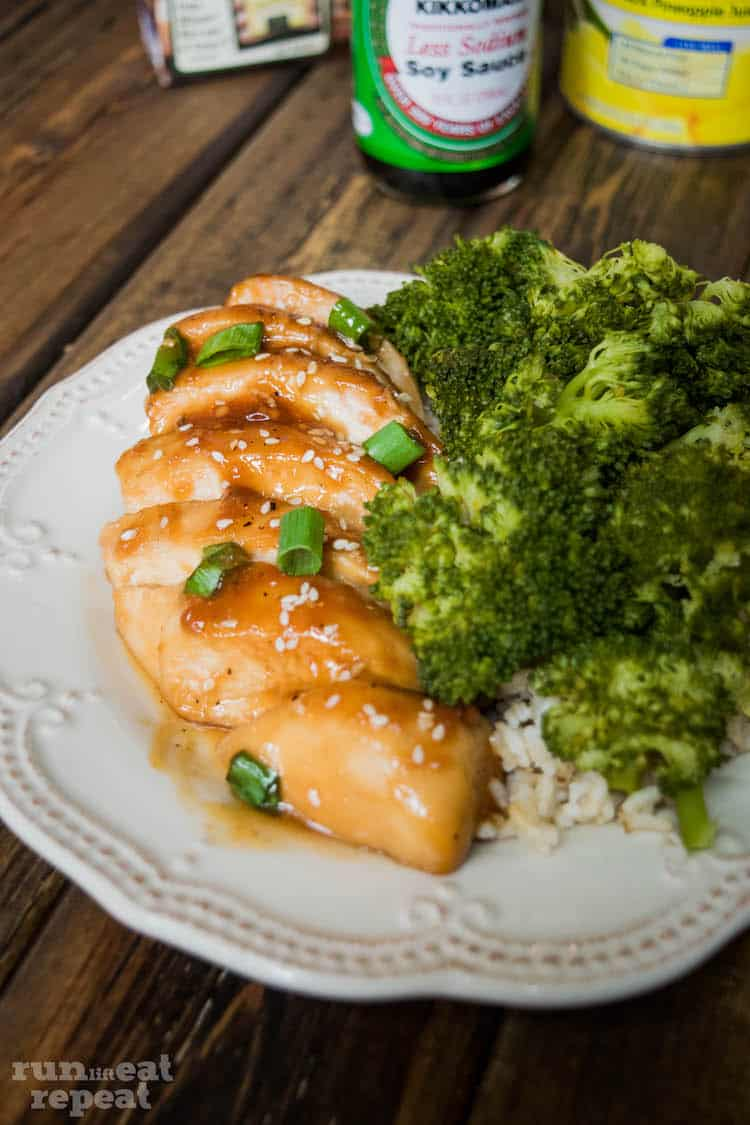 Enter the easiest, healthier, most flavorful baked chicken teriyaki. Find the recipe at runlifteatrepeat.com!