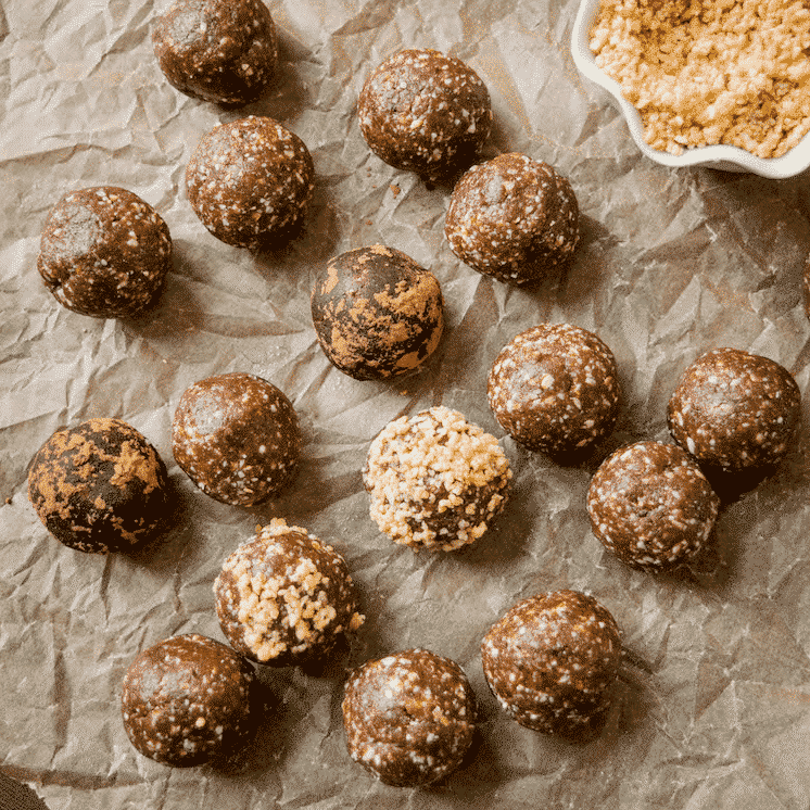 Healthy Peanut Butter Brownie Bites.