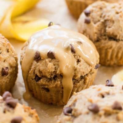Skinny Peanut Butter Banana Muffins.