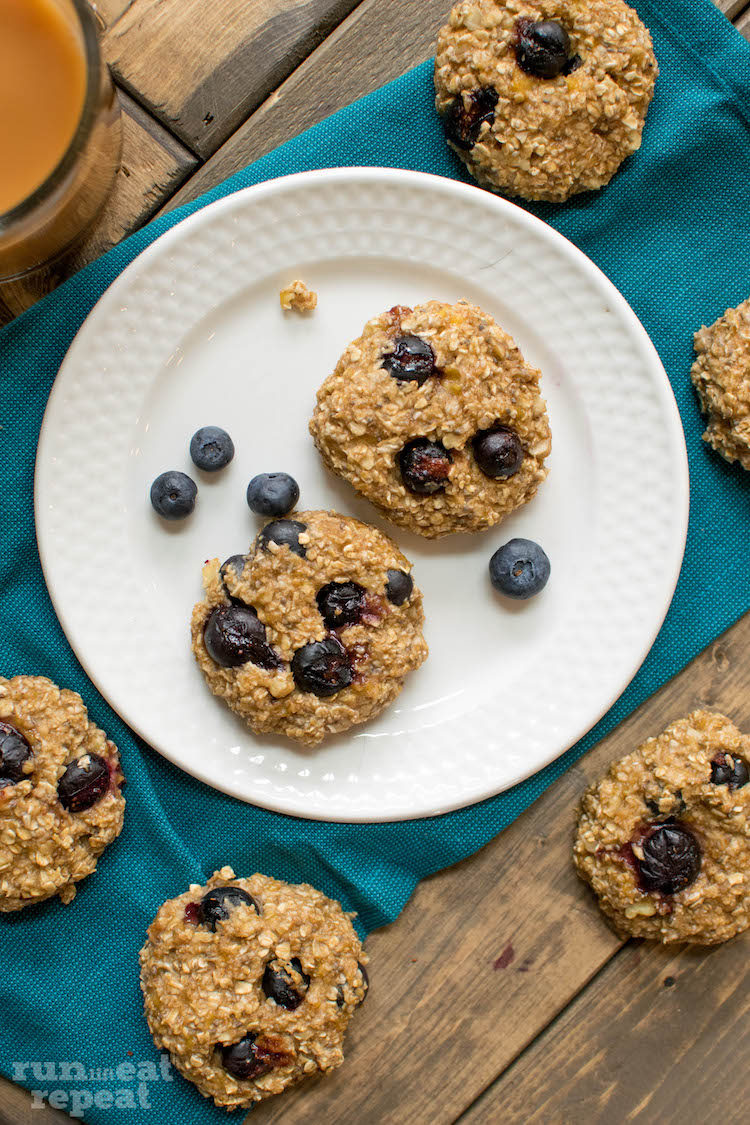 Cookies for breakfast packed with berries! Think baked oatmeal in cookie form with major staying power! Find the recipe at runlifteatrepeat.com!