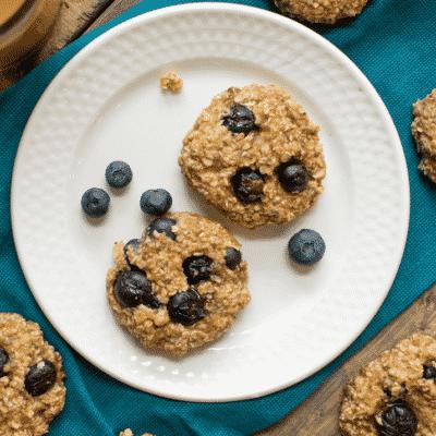 Blueberry Banana Power Breakfast Cookies.