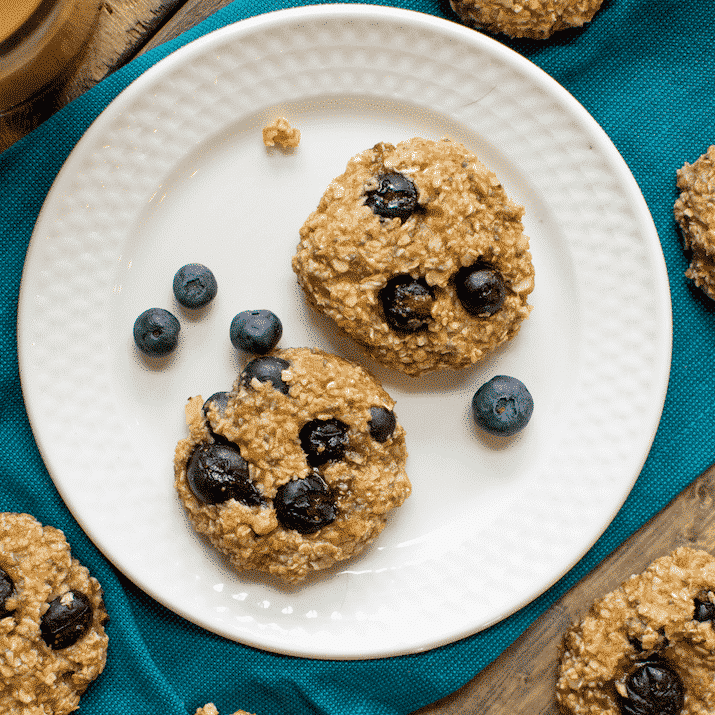 Blueberry Banana Power Breakfast Cookies.