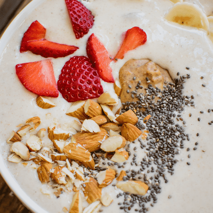 Cinnamon Roll Protein Smoothie Bowl.