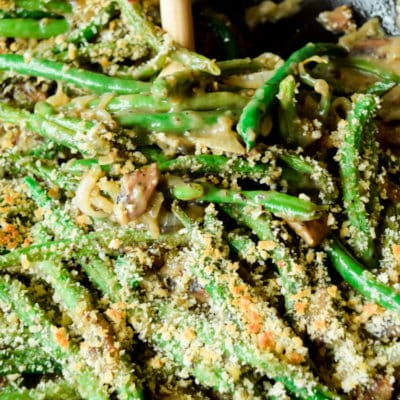 Roasted Green Bean Casserole from Scratch.