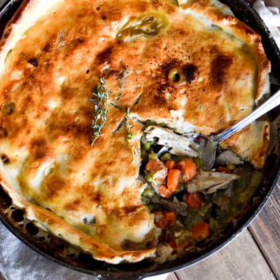 Easy Skillet Turkey Pot Pie.