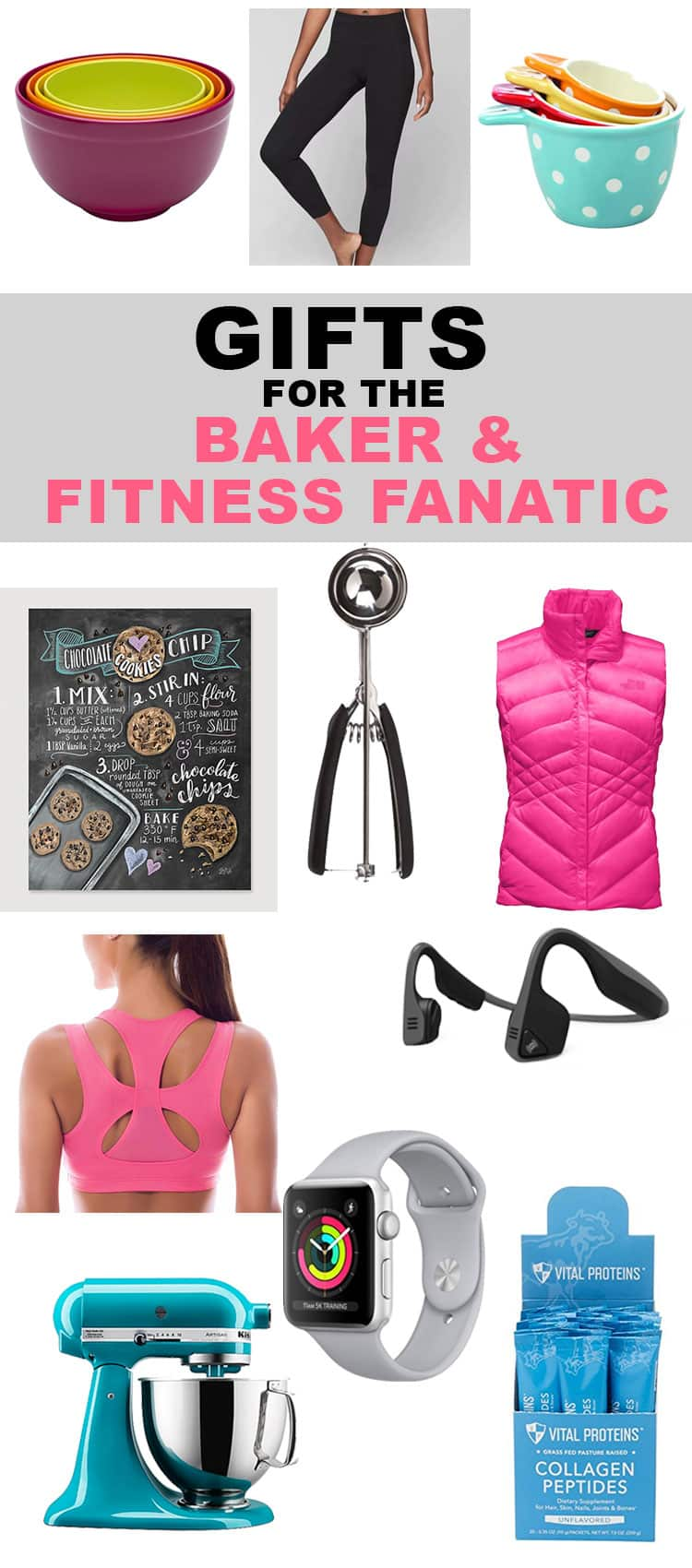 You asked! Here are the top 20 picks for that baker or fitness fanatic in your life. Or, let's be honest, for you. Because we all deserve a little reward for shopping during the holiday season! Find more at runlifteatrepeat.com!