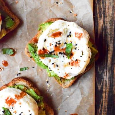 10-Minute Avocado Egg White Toast