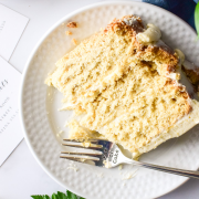 The minimal frosting on the outside exposes the cake layers— perfect for any occasion!