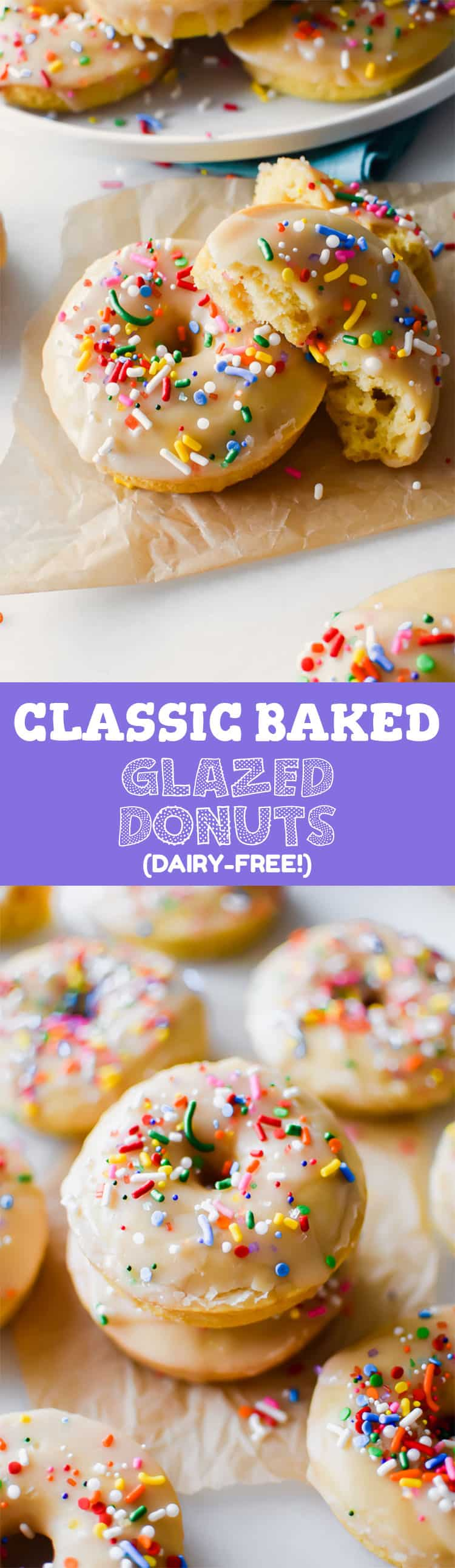 These classic glazed donuts are baked, not fried – plus super simple to make! Get the recipe at runlifteatrepeat.com!