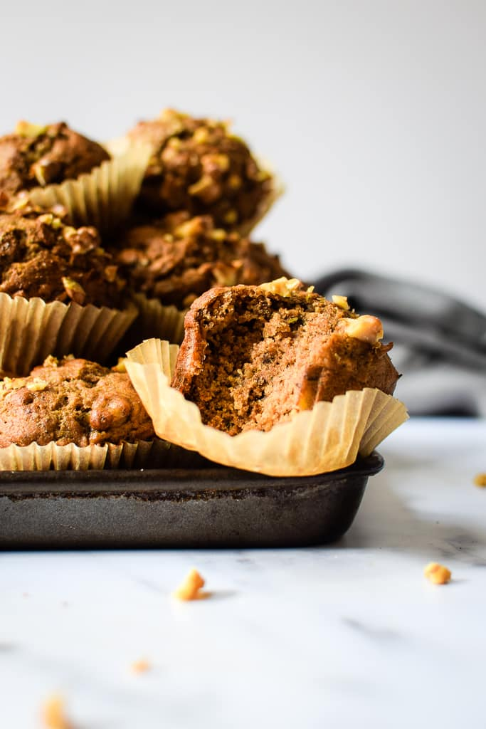 Hearty and satisfying whole wheat muffins filled with bananas and tons of cinnamon!
