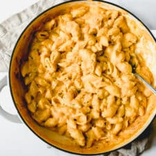 This is my favorite recipe for mac & cheese— creamy, comforting, flavorful, and so good! Find the recipe at runlifteatrepeat.com!