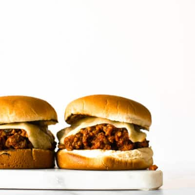 Homemade Healthier Sloppy Joes.