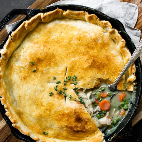 Easy Skillet Pot Pie.
