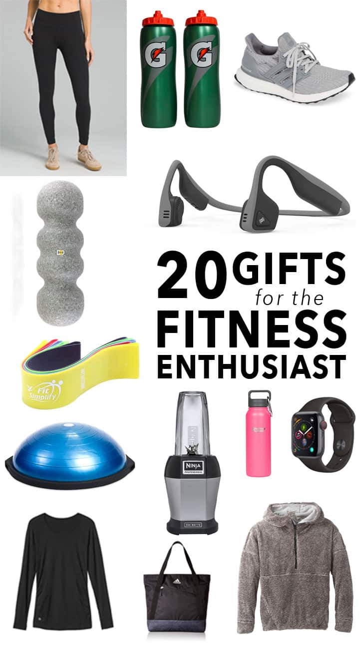 'Tis the season! You loved last year's gift guide so much that this year I split it into two. Last week I shared holiday gifts for the baker and today I'm sharing 20+ holiday gifts for the fitness enthusiast in your life.