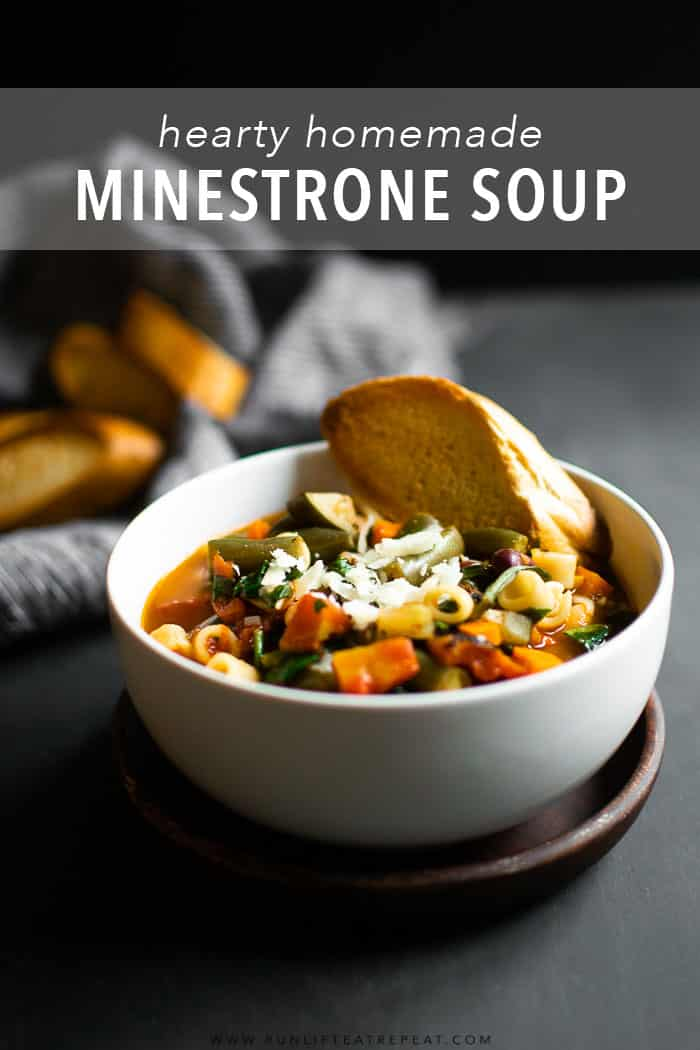 This minestrone soup is a favorite for obvious reasons. It's hearty, filled with tons of vegetables, and packed with flavor. It's the soup recipe that you'll make again and again!