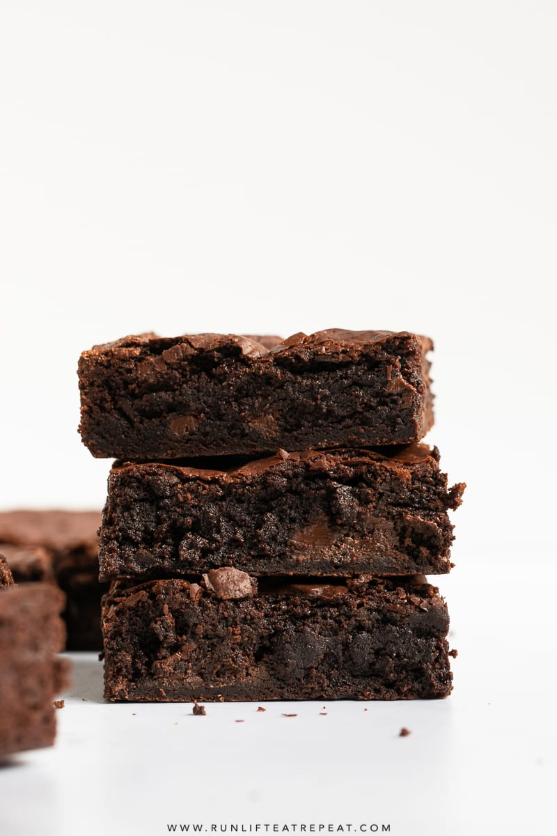 These are the fudgiest homemade brownies that you'll ever have and you'd never know that they were dairy free. The best part: no mixer required and made in just 1 bowl! #brownies #dairyfree #chocolate #homemade #recipe #coocnutoil #fudgy