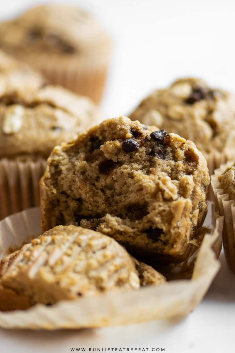 You only need 3 ripe bananas and a few basic ingredients to make these peanut butter banana muffins. They're soft, moist, spiced just right, and made in a blender! #muffins #peanutbutter #banana #breakfast