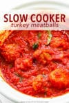 This slow cooker turkey meatball recipe is homemade, satisfying, and hardly any work. They're packed with flavor, incredibly tender, and keep perfectly for lunches during the week! Pair them with a salad, on top of spaghetti, stuffed inside a roll topped with provolone cheese, or with a side of garlic bread. No matter the way, these are my favorite!