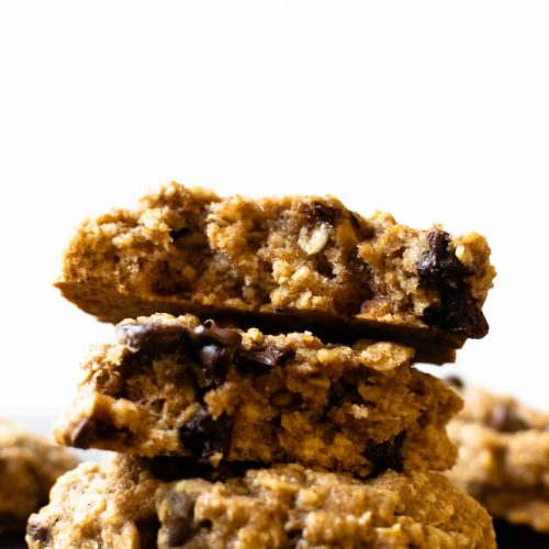 These soft and chewy oatmeal cookies have that classic homemade flavor— made with no refined sugar, hearty oats, and whole wheat flour. Your family will fall in love with this recipe.