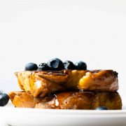 """There's no better word than """"unbelievable"""" to describe this unbelievable french toast– you have to try it! It's the perfect breakfast for the weekend with the family!"""
