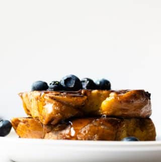 "There's no better word than ""unbelievable"" to describe this unbelievable french toast– you have to try it! It's the perfect breakfast for the weekend with the family!"