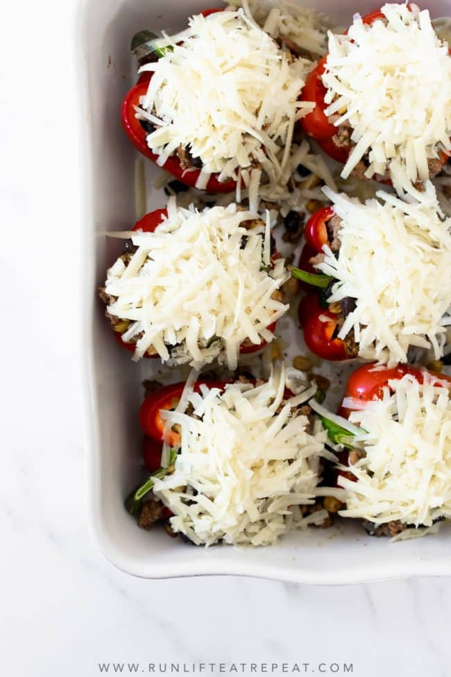 If you're searching for an easy weeknight dinner recipe that satisfies and one that the family will love, look no further. These mexican stuffed peppers are packed with flavor from the spices and come together in no time!
