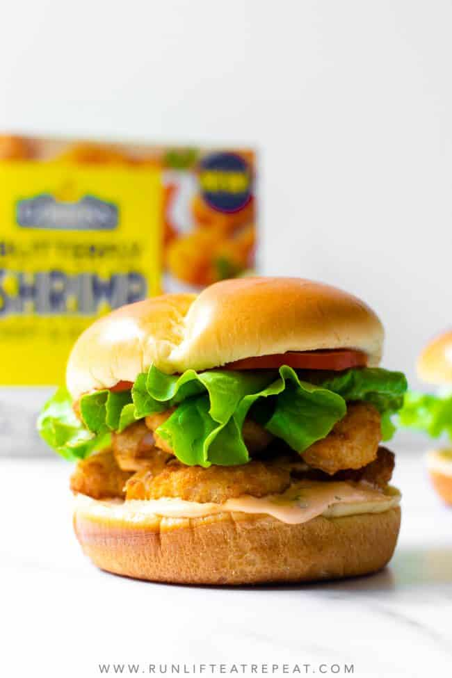 If you're craving a southern classic, you need to make this shrimp po' boy sandwich. The shrimp are extra crispy, tons of flavor from the homemade remoulade sauce, all stuffed in between a brioche bun. Everyone that tried these LOVED them!