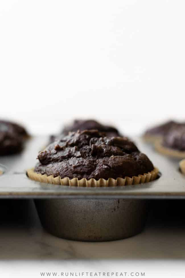 These pumpkin chocolate muffins are made with real pumpkin puree and lots of cozy pumpkin spice. They're full of flavor, incredibly moist, easy to make, and taste even better the next day!