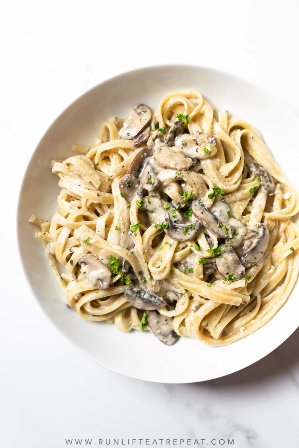 Creamy Mushroom Pasta Run Lift Eat Repeat