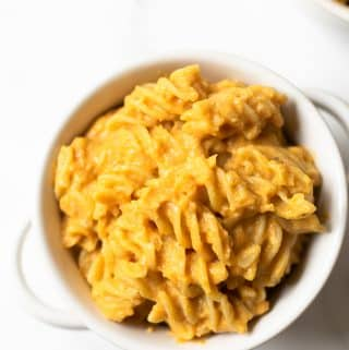 If you're searching for a fall inspired recipe, look no further. This pumpkin macaroni and cheese is a favorite! It's creamy, cheesy, and quick!