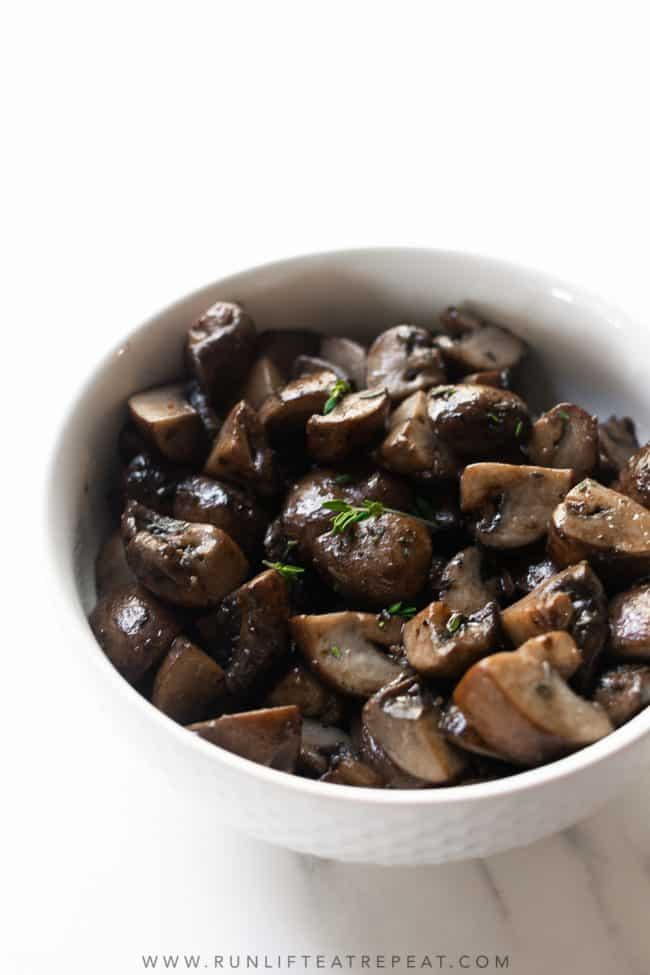 These brown butter garlic mushrooms are the perfect addition to any table, not just for the holidays! The flavor combination is unbeatable!