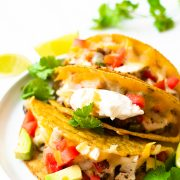 Let me show you how to make the baked chicken tacos. This is a recipe that is is easy, delicious and made with just a handful of basic ingredients. These are the answer to busy week nights!