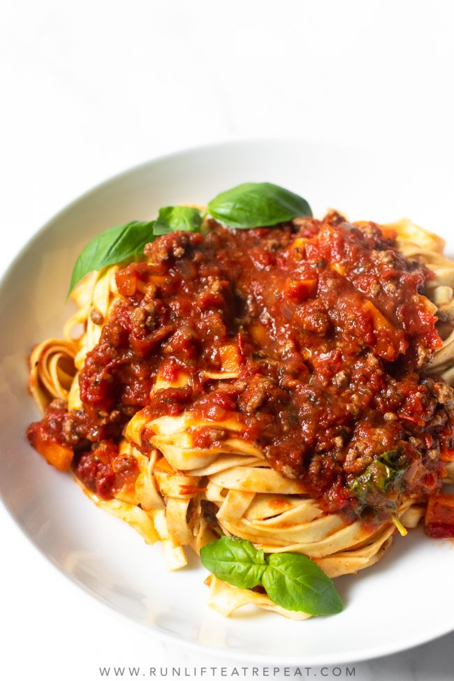 This pasta bolognese recipe is a classic Italian dish that is truly a comfort meal. This recipe is made in one pot, incredibly flavorful and a recipe that your family will love!