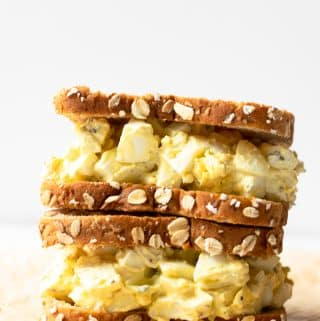This egg salad recipe is my favorite to make anytime of the year. Not only is it easy to make, but it's incredibly flavorful. Truly the perfect make-ahead recipe for lunches for those busy weeks.