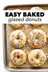 When you're craving donuts but want to make them at home without all the work— these glazed donuts save the day! This glazed donut recipe is incredibly simple, 35 minutes start to finish, and are baked, not fried. Perfect for the weekend or even during the week!