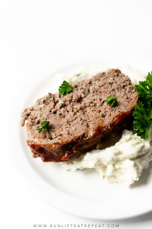 I present to you the best meatloaf recipe— it's tender, juicy, loaded with flavor and topped with unique but delicious glaze. This meatloaf recipe is easy to make and ready in less than an hour! It's a recipe that your entire family with find comfort in.