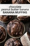 You haven't had a chocolate muffin until you've made these chocolate peanut butter banana muffins. It's where fudgy brownies meets moist peanut chocolate cake. This recipe is easy to follow and doesn't require a mixer!