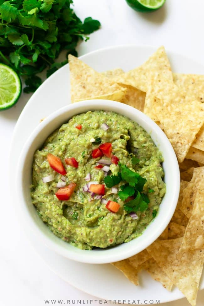 This outrageously flavorful and easy guacamole recipe comes together in just minutes. Made with classic ingredients like avocados, lime juice, red onion, cilantro, jalapeño and spices— it's a recipe that you'll make over and over again!