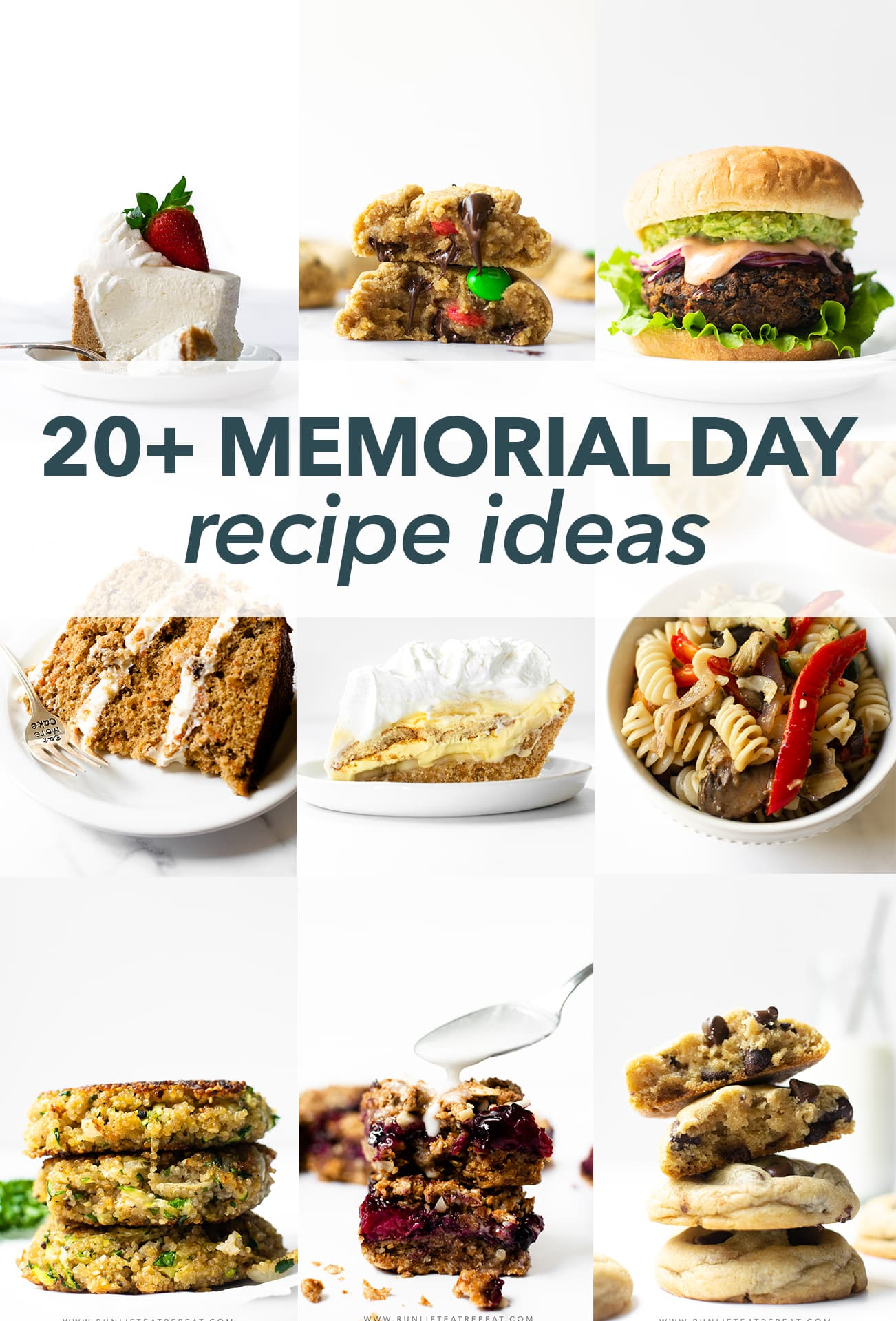 From turkey burgers to black bean burgers to banana pudding pie to classic chocolate chip cookies, find inspiration with this collection of Memorial Day recipes.